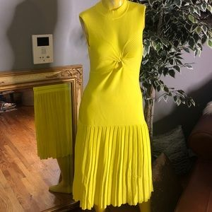 BEBE YELLOW KNIT DRESS